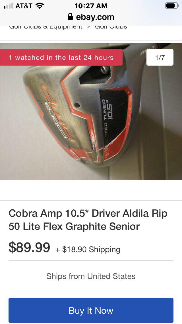 Cobra driver 10.5 right hand 5 wood 3 wood