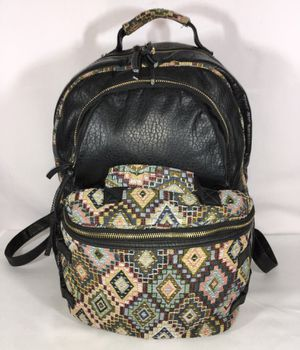 UNDER ONE SKY PRINT POCKET FAUX LEATHER BACKPACK for Sale in Fresno, CA