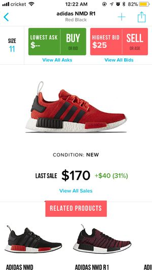 Adidas NMD R1 Red/Black size 11 for Sale in Annandale, VA
