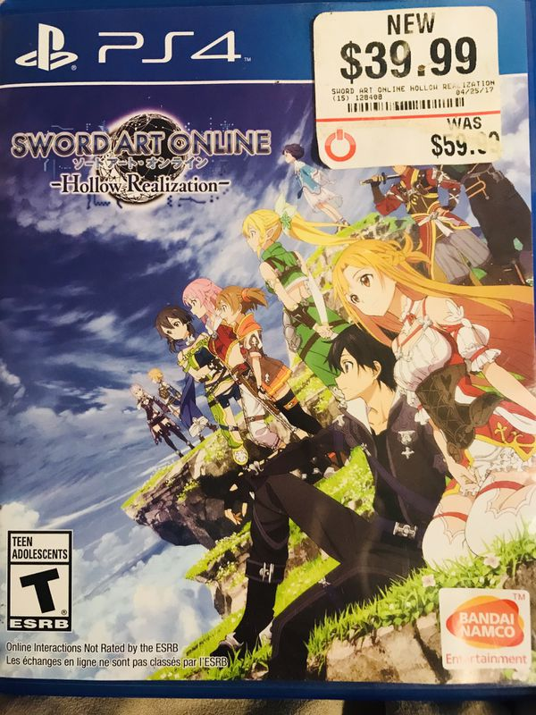 Ps4 sword art online hollow realization video game bought new never