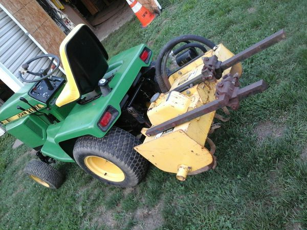 Nice John Deere Tractor With Hydraulic Tiller An Cultivators For In Indianapolis Offerup