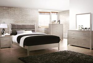 New 5-Piece + Queen or King-Sized Bedroom Set as Pictured - Mattress Set Sold Separately for Sale in Houston, TX