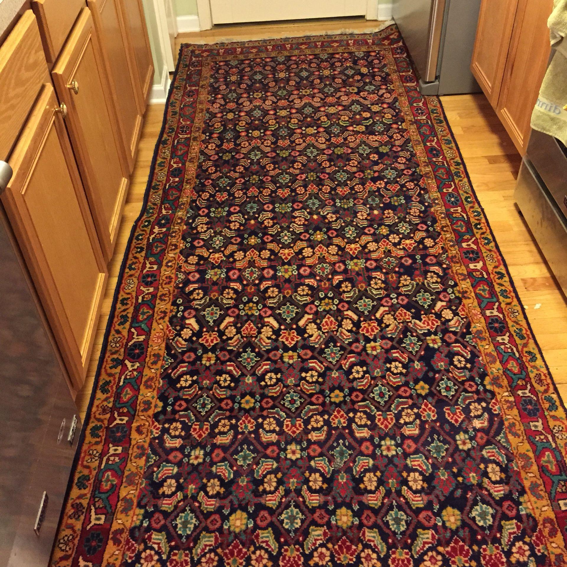 Gorgeous genuine persian rug Hamadan mahali runner