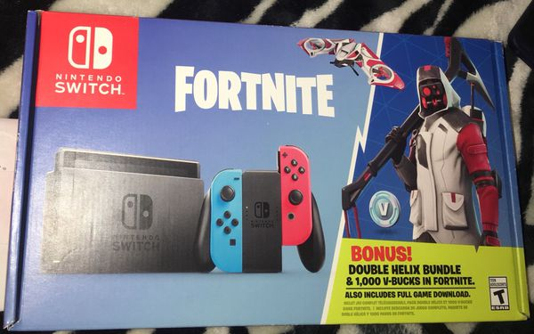 Brand New Sealed Fortnite Double Helix Nintendo Switch Console Bundle 1 000 V Bucks For Sale In New York Ny Offerup