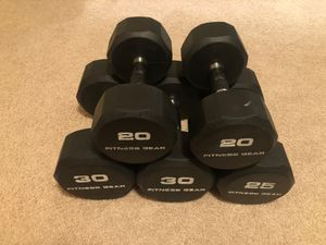 Photo Fitness Gear Rubber Hex Dumbbell Set
