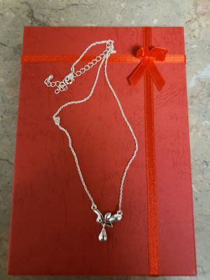 Silver necklace with pendant for Sale in Alexandria, VA