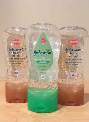 Johnson's baby oil gel for Sale in Alexandria, VA