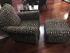 Animal Print Chair & Ottoman for Sale in Lynch Station, VA