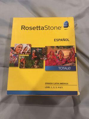 Rosetta Stone Latin America Spanish level 1-5 for Sale in San Diego, CA