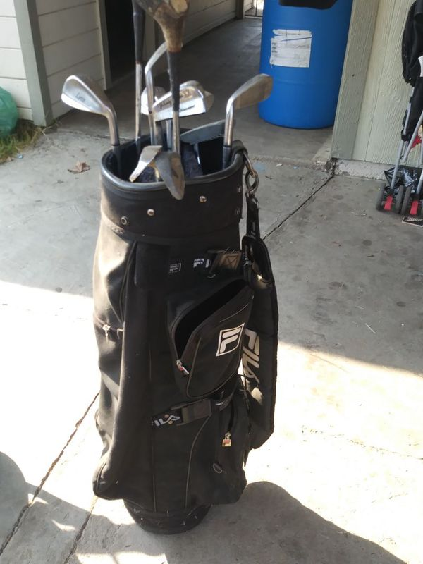 1648d72b92b8 Fila golf bag and clubs for Sale in Farmersville