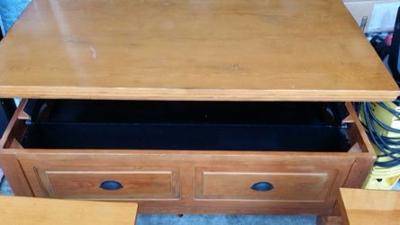 3 Furniture tables 2 side lamp table and one large coffee table with tons of storage Thumbnail
