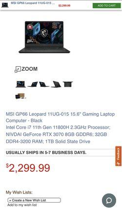 MSI gp66 Leopard RTX 3070 Thumbnail