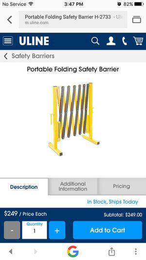 Uline portable safety barrier for Sale in Azusa, CA - OfferUp