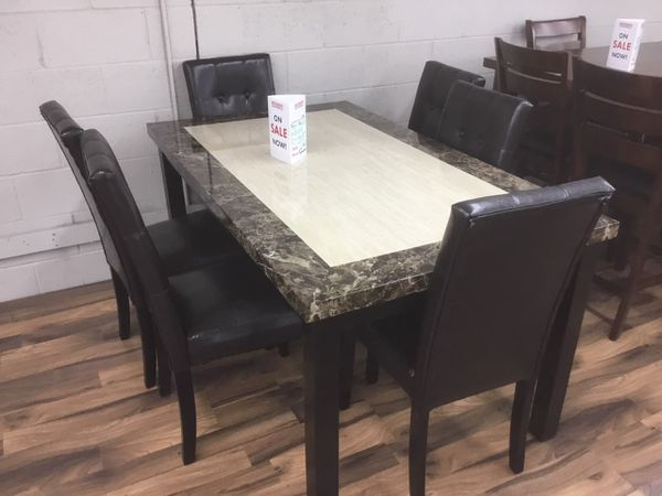 New 7pc Dining Room Table Set Includes And Chairs Furniture In Portland OR
