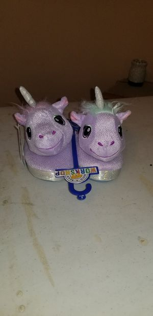 Photo Brand new Build A Bear unicorn house shoes
