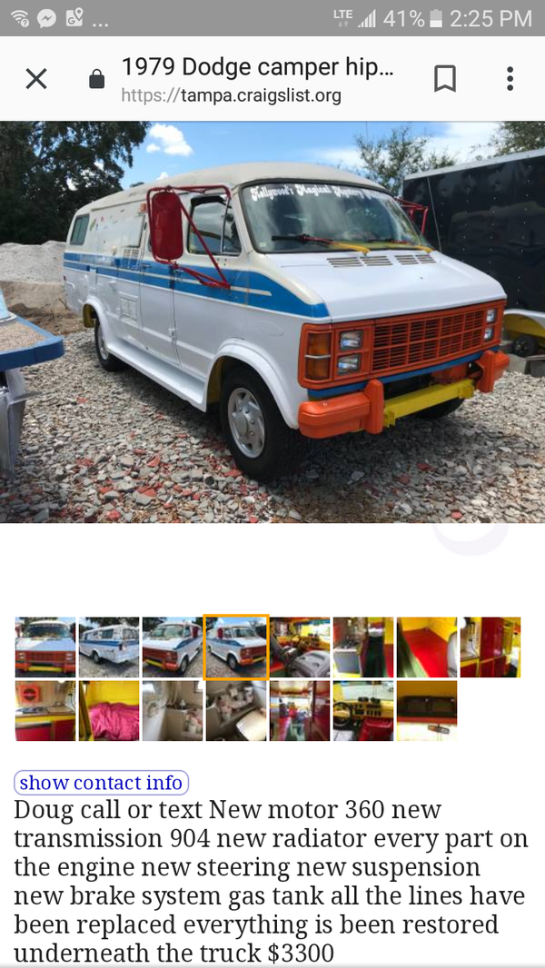 New And Used Camper Vans For Sale In Tampa Fl Offerup
