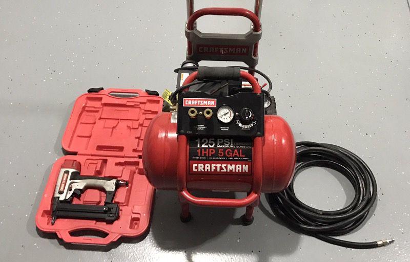 Air Compressor & Staple Gun