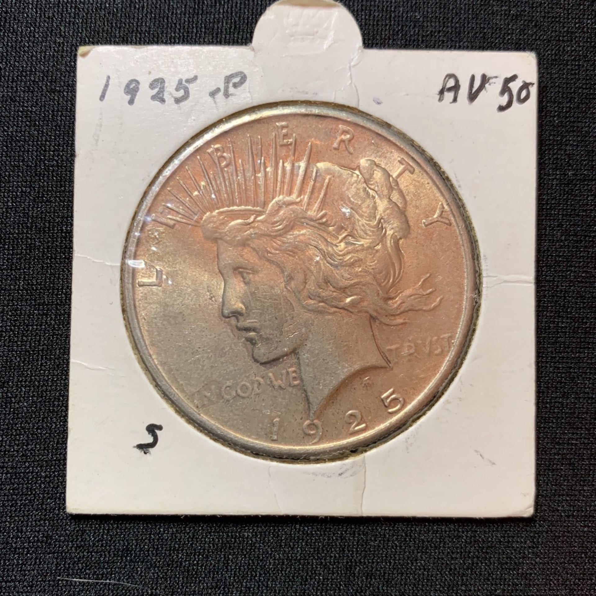 1925 P Peace Silver Dollar