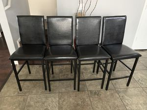 Photo Brand new / high chairs / dining table chairs / kitchen table chairs. Black