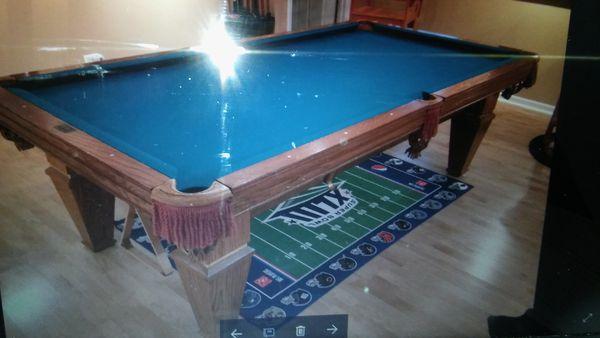 Brunswick Billiards Citadel Pool Table Installed New Cloth Any Color - New brunswick pool table