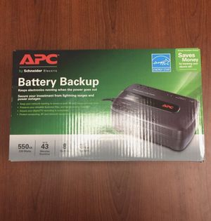 NIB - 2 APC 550VA 8 Outlet Power Supply 120V Battery Surge Protectors for Sale in Silver Spring, MD