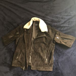 EXPRESS - Dark Brown Suede Coat for Sale in Silver Spring, MD