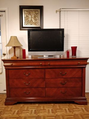 Nice wooden big ( Collezione Europa) dresser/TV stand with 8 drawers in very good condition, for Sale in Annandale, VA