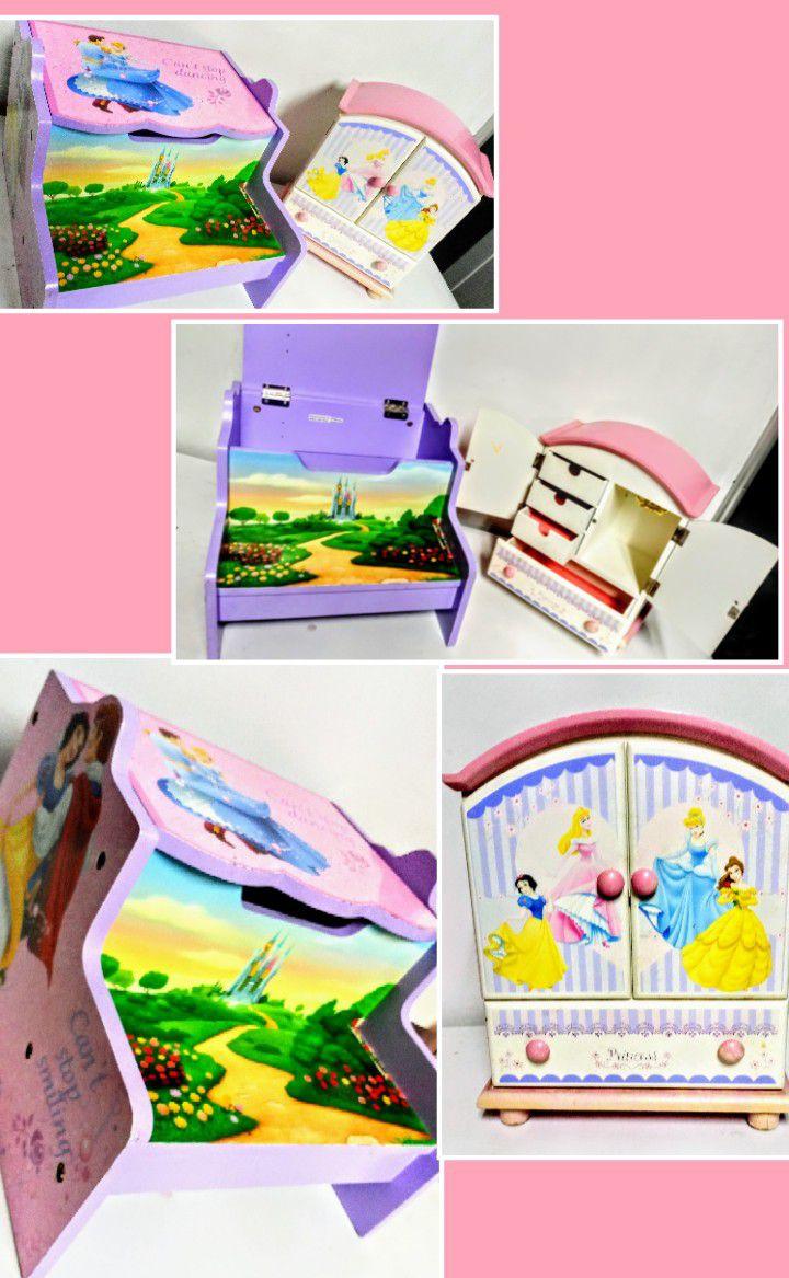 Princess jewelry box and storage bench