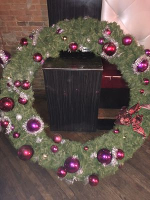6' PreLit Commercial Grade Wreath With Decorations for Sale in Cleveland, OH