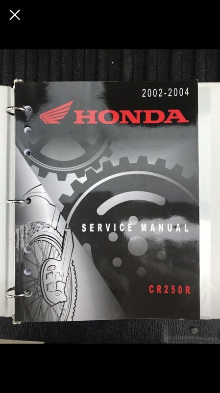 2004 honda cr250 manual
