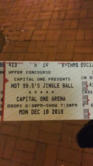2 Jingle ball tour tickets for Sale in Washington, DC