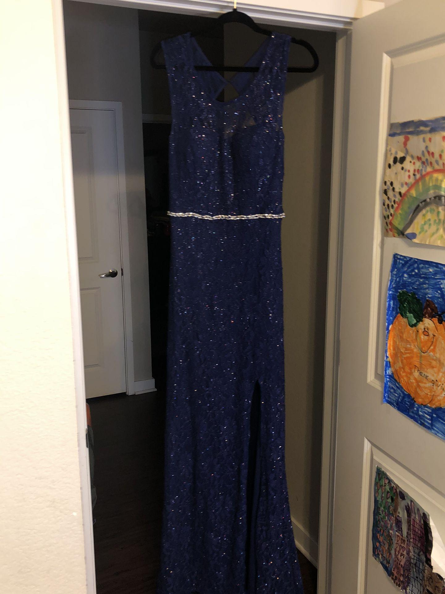 Navy Blue Mermaid Prom Dress