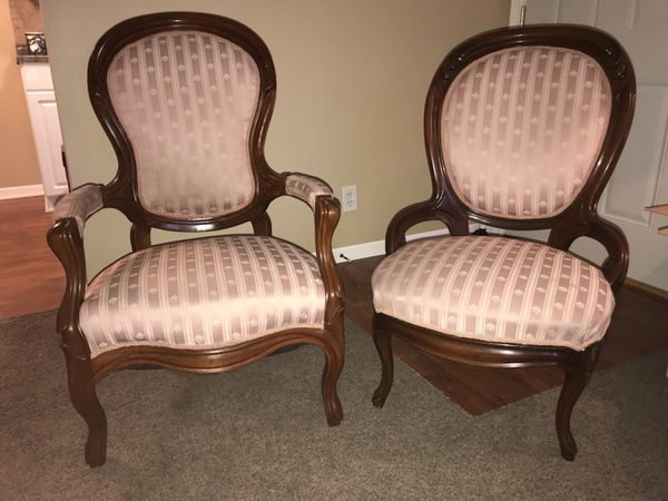 - Pair Of Antique Victorian Chairs (Furniture) In Lincoln, NE - OfferUp
