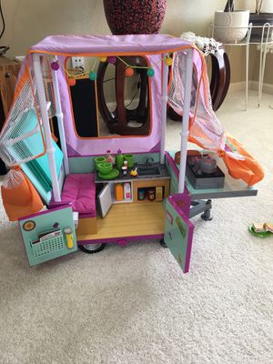 American girl doll 18in 2 Truly Me and Camper Pop Up Brand New $300.. FIRM for Sale in Happy Valley, OR