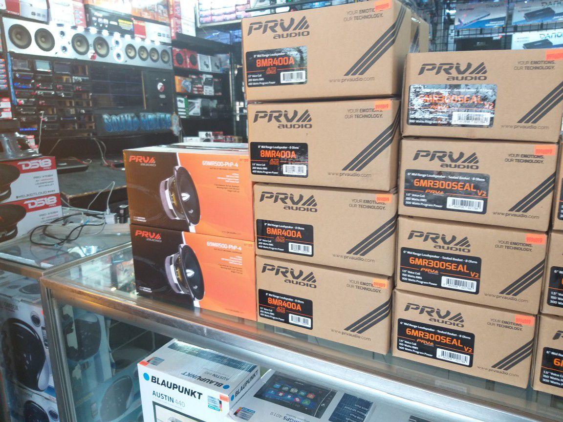 "PRV midrange speakers! 6.5"" 8"" & 6x9"" available!"