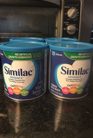 Similac Advance 4 cans of 12.4 oz for Sale in Gaithersburg, MD