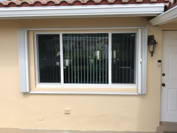 Accordion Hurricane Shutters Great Condition For Sale In