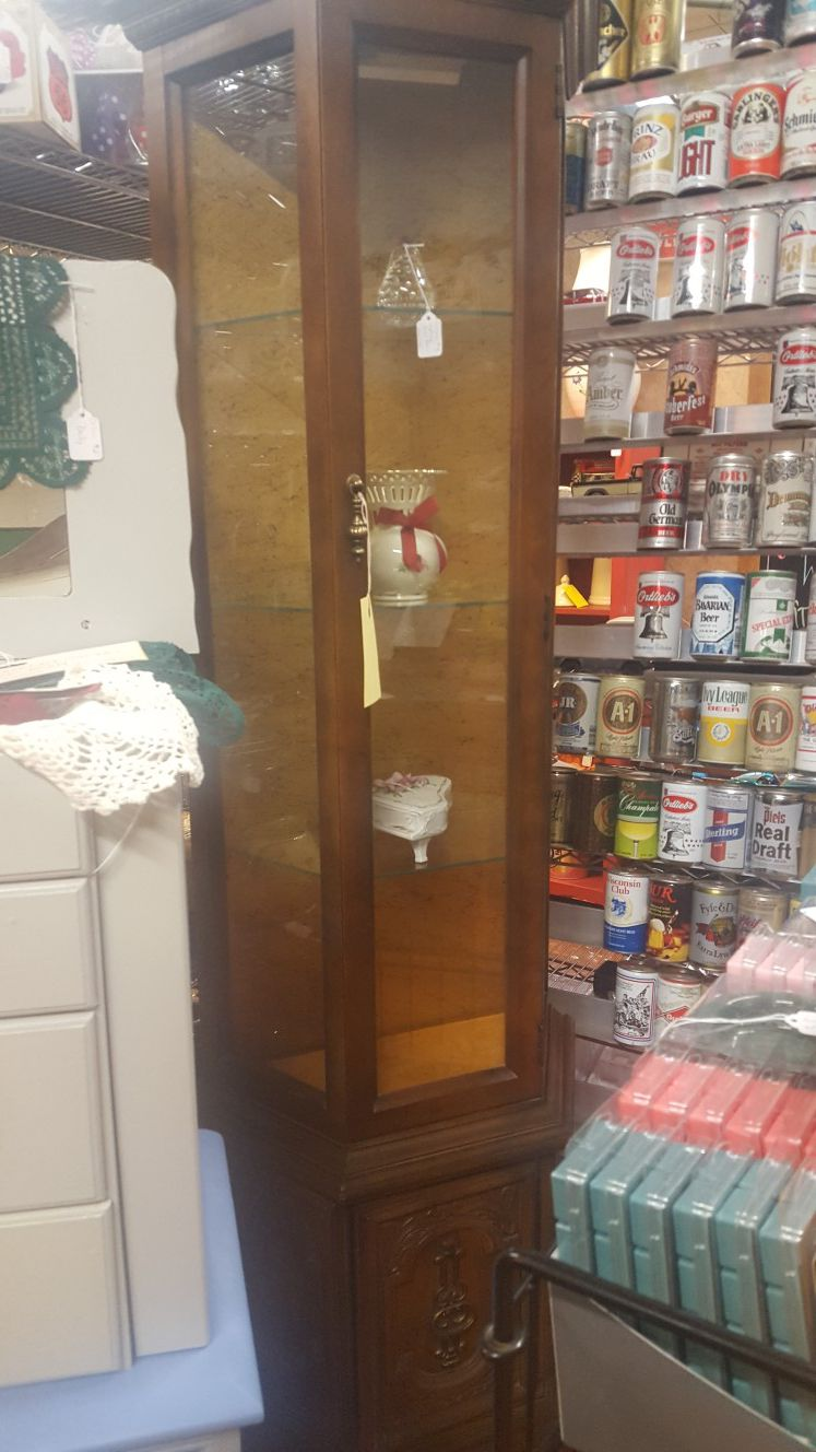 Vintage Curio Cabinet with Light