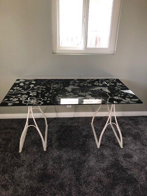 buy popular e0c2e f146b IKEA glass desk for Sale in San Dimas, CA - OfferUp