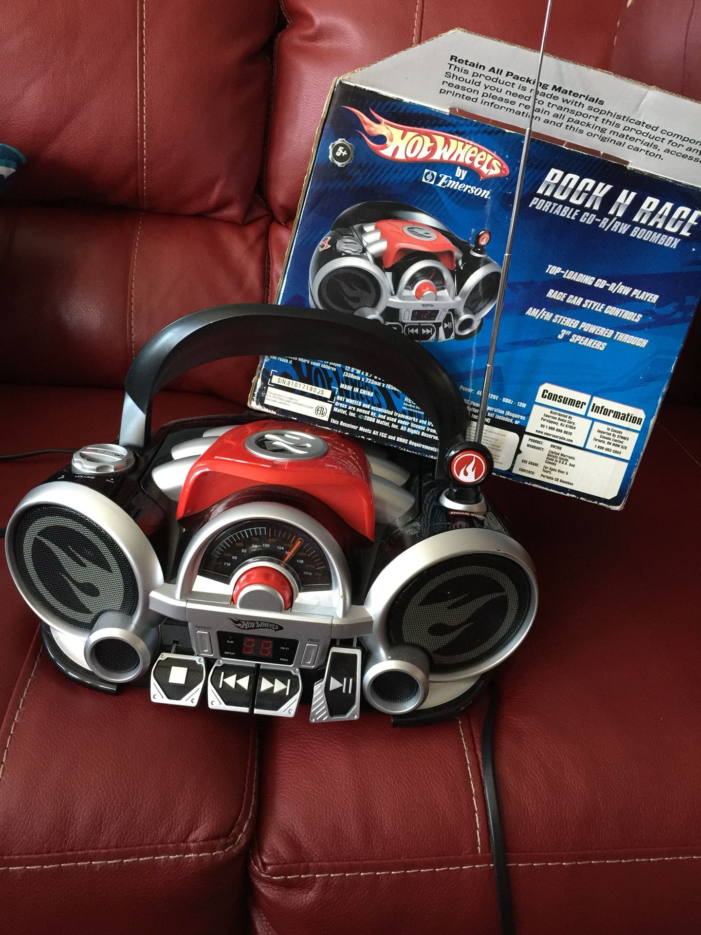 Rock and Race CARS Portable CD-R/RW Boombox