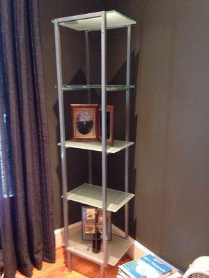 Glass and aluminum shelf for Sale in Arlington, VA