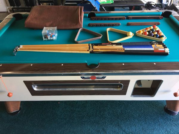 Vintage valley 8 bar size slate pool table coin operated extras vintage valley 8 bar size slate pool table coin operated extras for sale in santa maria ca offerup watchthetrailerfo