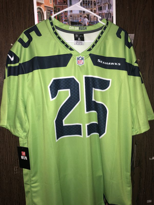sports shoes f1a98 cd6a6 Richard Sherman Seattle Seahawks Color Rush Jersey Size XXL New With Tags  Nike Jersey
