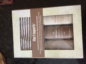Pier one imports bath set and mask for Sale in Austin, TX