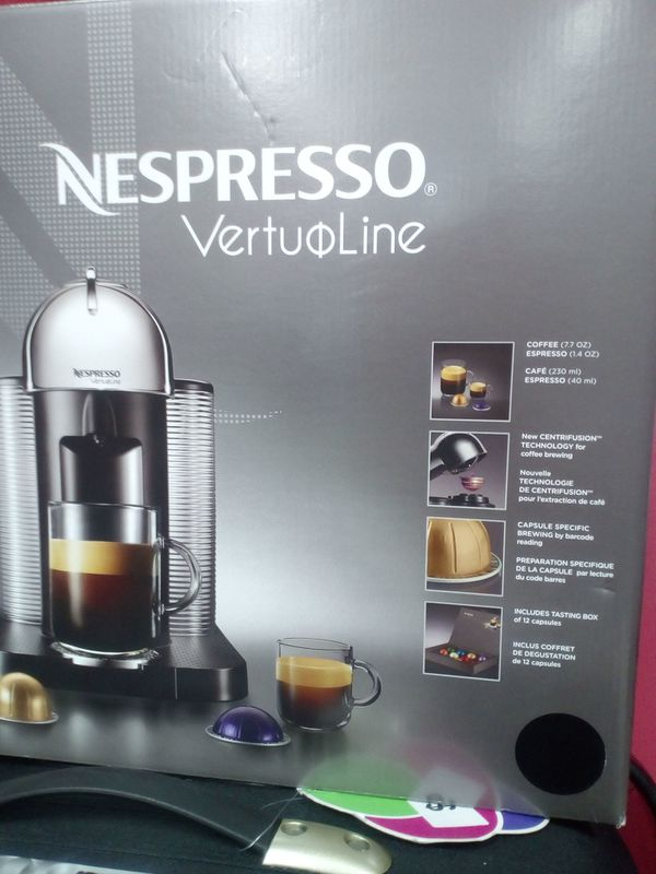 NESPRESSO VERTUOLINE COFFEE MACHINE Without The Capsules NEW OPEN BOX For Sale In Miami FL