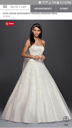 1faf02b3614 OLEG CASSINI SATIN BODICE ORGANZA WEDDING DRESS for Sale in Morrison