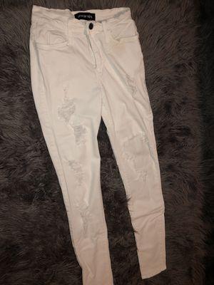 Fashion nova white jeans for Sale in Covina, CA