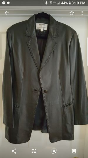 Italian leather blk jacket..RETAILS for $1800 for Sale in Alexandria, VA
