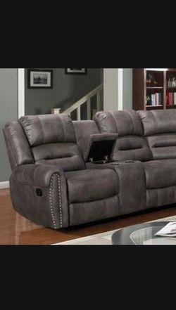 Kenedy Brown reclining Sectional Sofa  Thumbnail