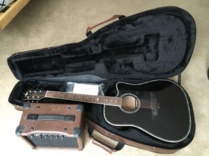 Keith Urban Acoustic Electric Guitar with Amp and Case for Sale in Falls Church, VA